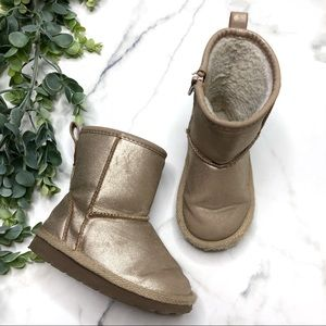 GAP KIDS Toddler Girl 7 Gold Boots